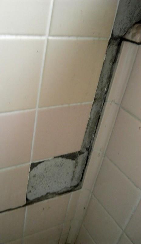 ひび割れた玄関の修復と浴室のリフォーム。
