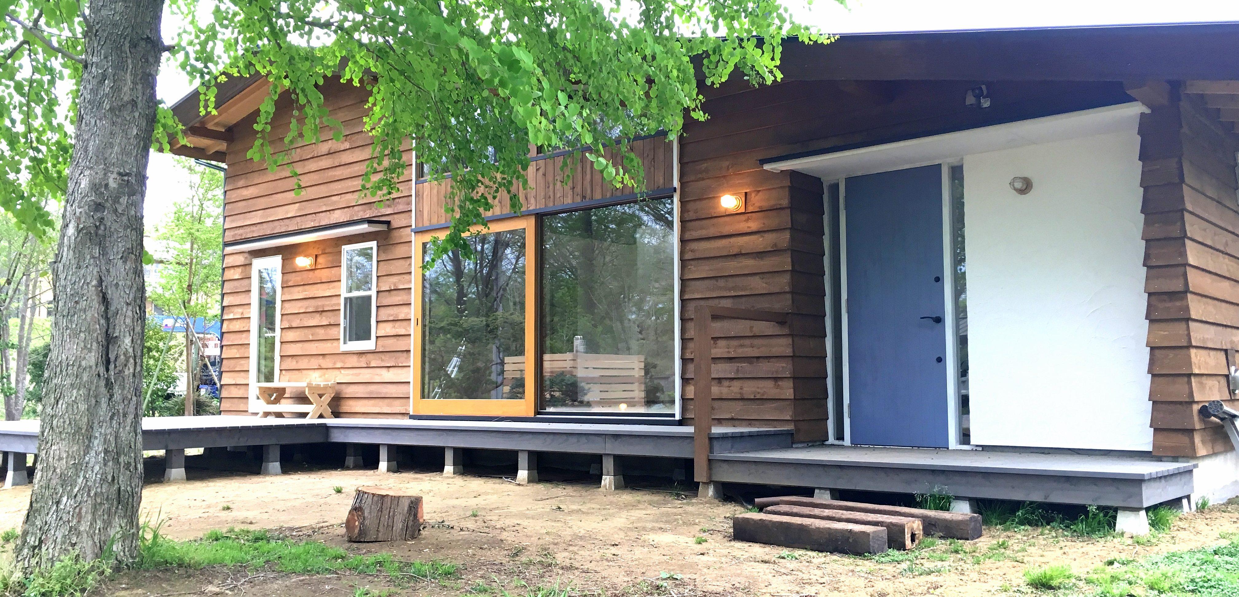 自然に囲まれた山武杉のデザインハウス
