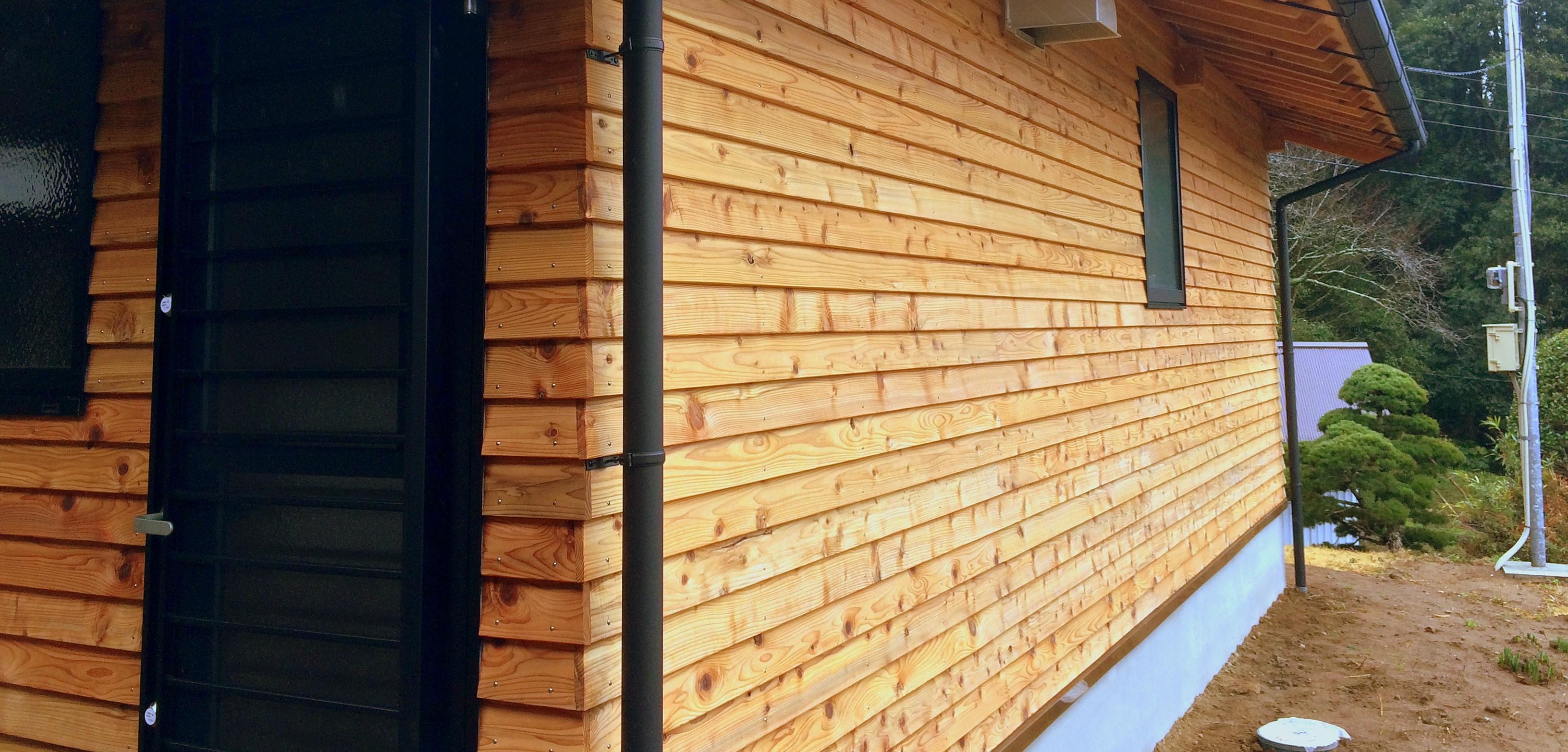 そとん壁と杉板の外壁 千葉県山武市 S邸増築