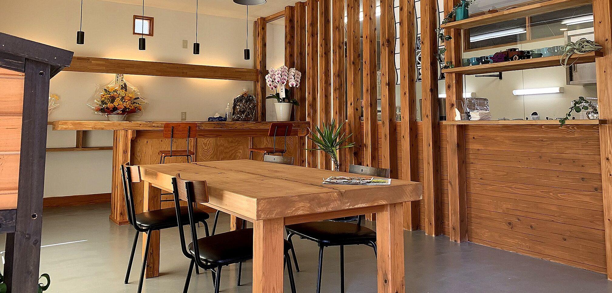 山武杉を使用したカフェリノベーション